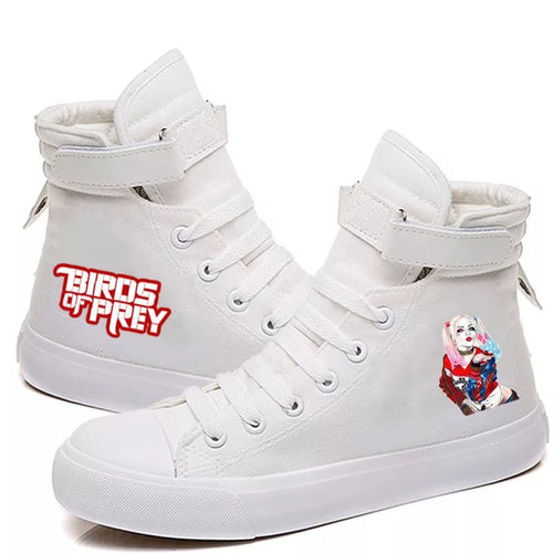 Birds of Prey Harley Quinn #1 High Tops Casual Canvas Shoes Unisex Sneakers
