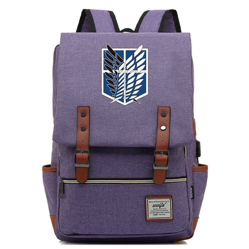 Attack On Titan Cosplay Canvas Travel Backpack School Bag