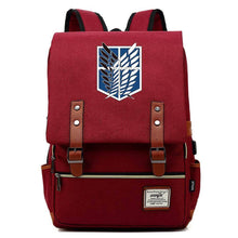 Load image into Gallery viewer, Attack On Titan Cosplay Canvas Travel Backpack School Bag