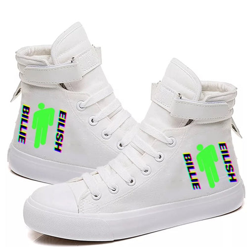 Billie Eilish Bellyache Classic Style  #8 Cosplay Shoes High Top Canvas Sneakers