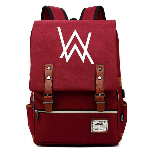 DJ Alan Walker Canvas Travel Backpack School Bag