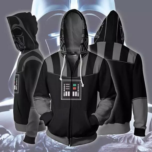 Star Wars Darth Vader Sweatshirt Sweater Jacket Zipper Halloween Cosplay Costume