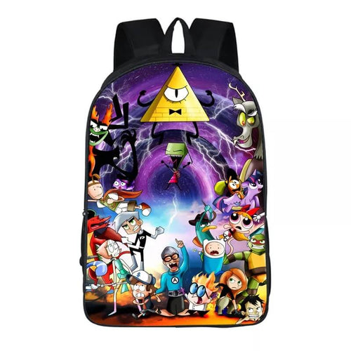 Anime Gravity Falls Bill Cipher #5 Backpack School Sports Bag