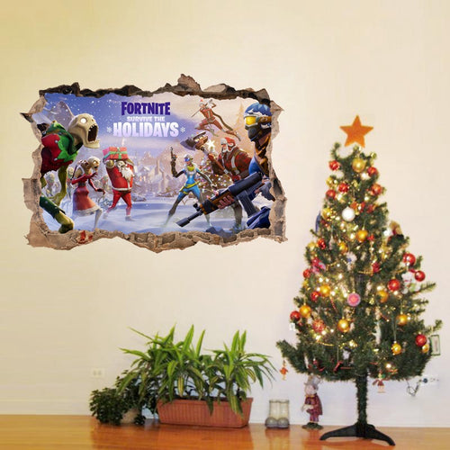 Fortnite Christmas #4 Wall Decor Peel & Stick Poster Decals