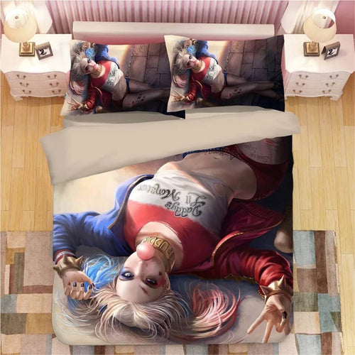 DC Comics Suicide Squad Harley Quinn #1 Bedding Set Duvet Cover Pillowcase Bedroom Set Bed Linen