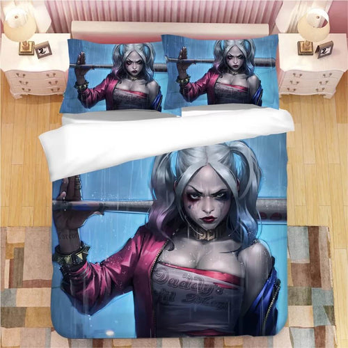 DC Comics Suicide Squad Harley Quinn #2 Bedding Set Duvet Cover Pillowcase Bedroom Set Bed Linen