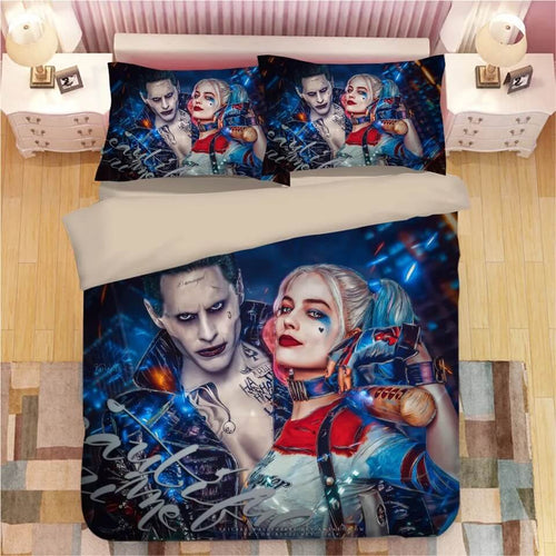 DC Comics Suicide Squad Harley Quinn #3 Bedding Set Duvet Cover Pillowcase Bedroom Set Bed Linen