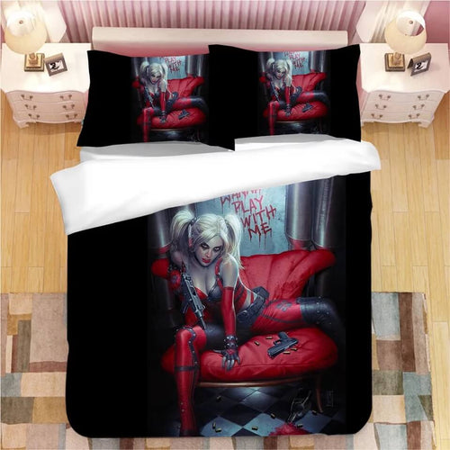 DC Comics Suicide Squad Harley Quinn #4 Bedding Set Duvet Cover Pillowcase Bedroom Set Bed Linen