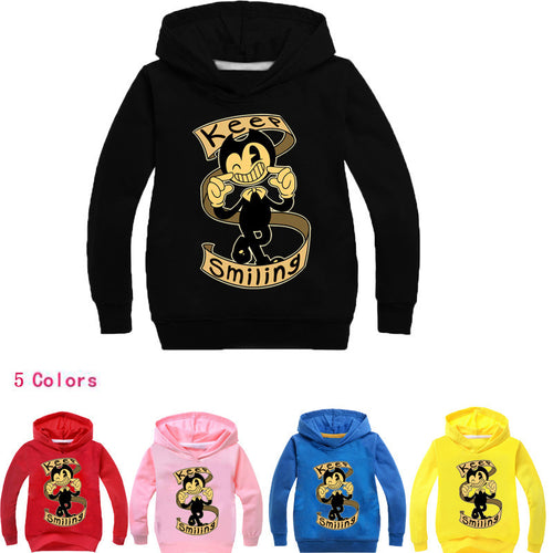 Bendy and the Ink Machine Keep Smiling Hoodies Sweater Shirt for Boys Kids Sweatshirt