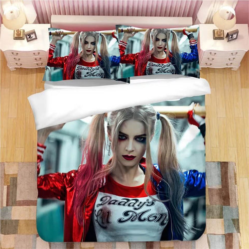 DC Comics Suicide Squad Harley Quinn #9 Bedding Set Duvet Cover Pillowcase Bedroom Set Bed Linen