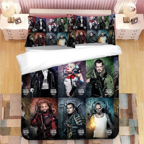 DC Comics Suicide Squad Harley Quinn #10 Bedding Set Duvet Cover Pillowcase Bedroom Set Bed Linen