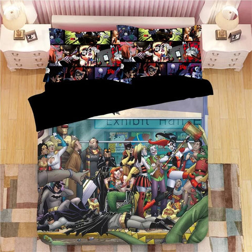 DC Comics Suicide Squad Harley Quinn #12 Bedding Set Duvet Cover Pillowcase Bedroom Set Bed Linen