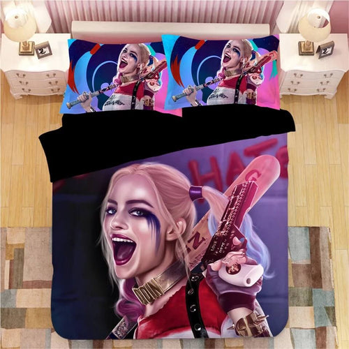 DC Comics Suicide Squad Harley Quinn #14 Bedding Set Duvet Cover Pillowcase Bedroom Set Bed Linen