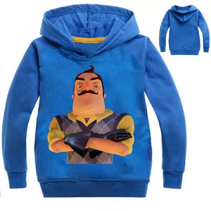 Game Hello Neighbor Hoodies Sweater Shirt for Boys Kids Sweatshirt