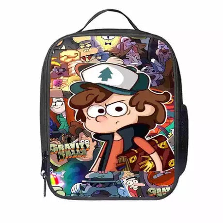 Gravity Falls #2 Lunch Box Bag Lunch Tote For Kids