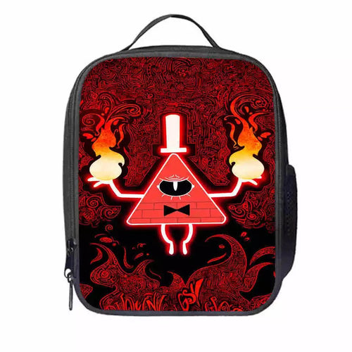 Gravity Falls Bill Cipher #5 Lunch Box Bag Lunch Tote For Kids