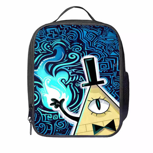 Gravity Falls Bill Cipher #7 Lunch Box Bag Lunch Tote For Kids