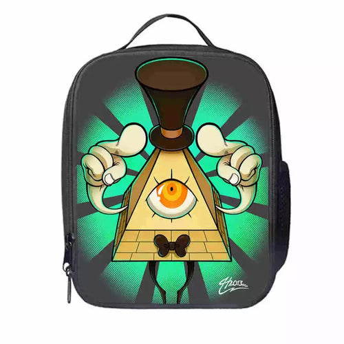 Gravity Falls Bill Cipher #9 Lunch Box Bag Lunch Tote For Kids