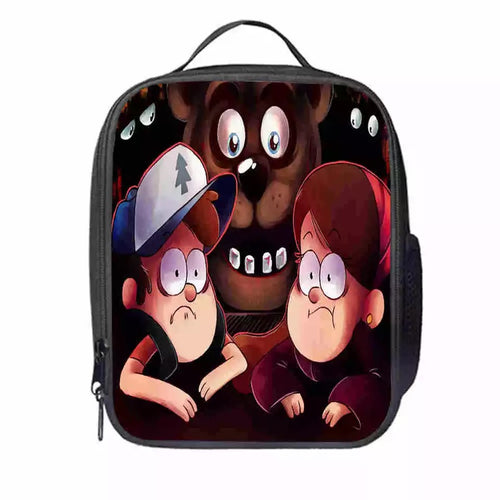 Gravity Falls Dipper Mabel Pines #12 Lunch Box Bag Lunch Tote For Kids