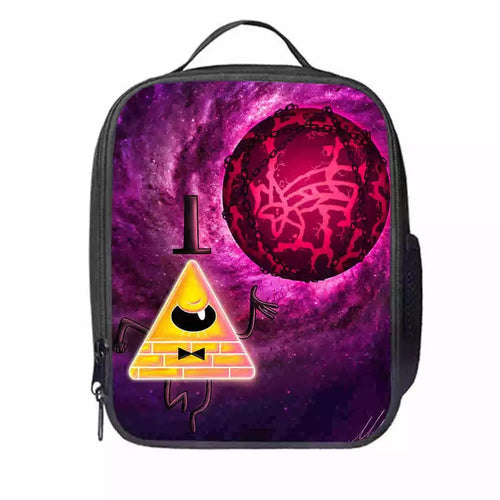 Gravity Falls Bill Cipher #14 Lunch Box Bag Lunch Tote For Kids