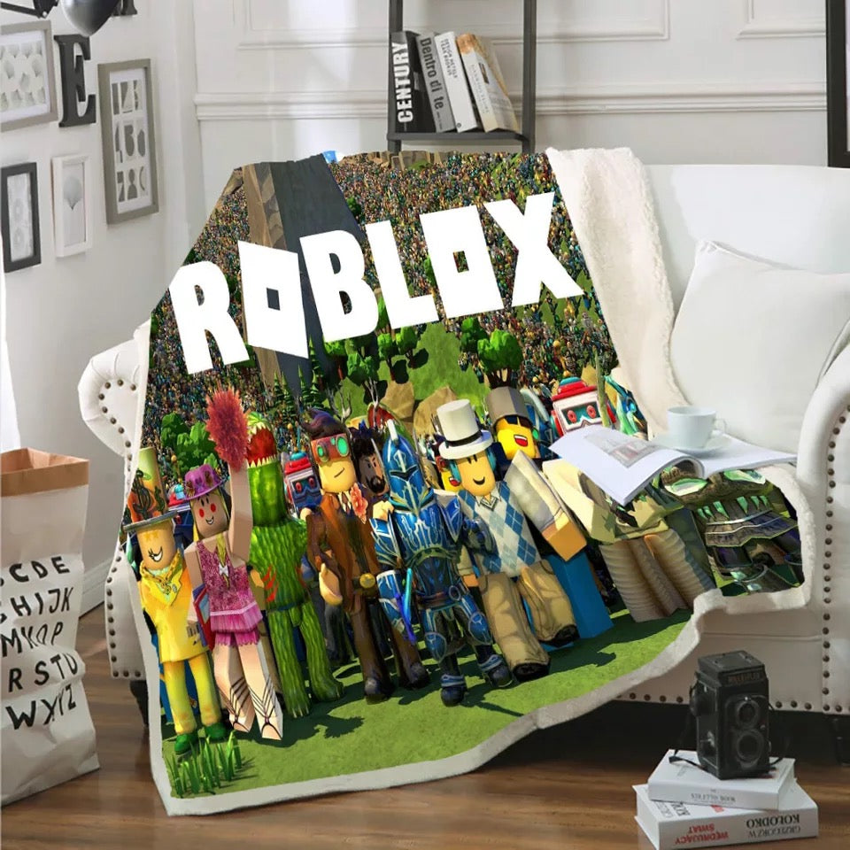 Roblox #4 Blanket Super Soft Cozy Sherpa Fleece Throw Blanket for Men Boys