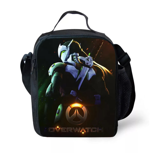 Game Overwatch Genji #3 Lunch Box Bag Lunch Tote For Kids