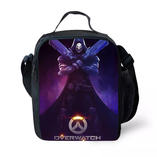 Game Overwatch Reaper #4 Lunch Box Bag Lunch Tote For Kids