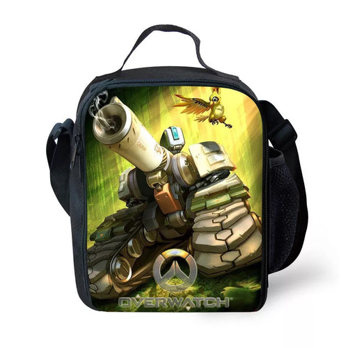 Game Overwatch E54 #6 Lunch Box Bag Lunch Tote For Kids