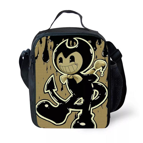 Bendy and the Ink Machine #9 Lunch Box Bag Lunch Tote For Kids