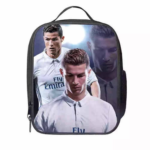 Juventus Cristiano Ronaldo #3 Lunch Box Bag Lunch Tote For Kids