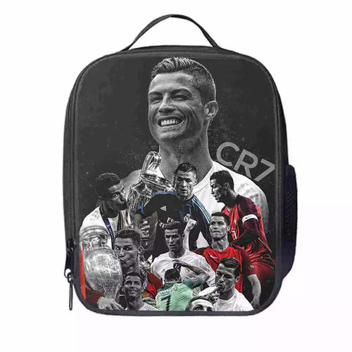 Juventus Cristiano Ronaldo #4 Lunch Box Bag Lunch Tote For Kids