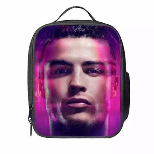 Juventus CR7 Cristiano Ronaldo #6 Lunch Box Bag Lunch Tote