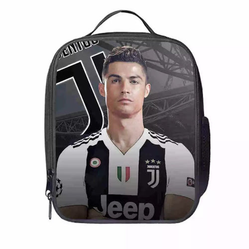 Juventus CR7 Cristiano Ronaldo #7 Lunch Box Bag Lunch Tote