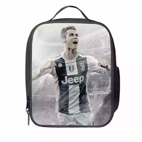 Juventus CR7 Cristiano Ronaldo #8 Lunch Box Bag Lunch Tote