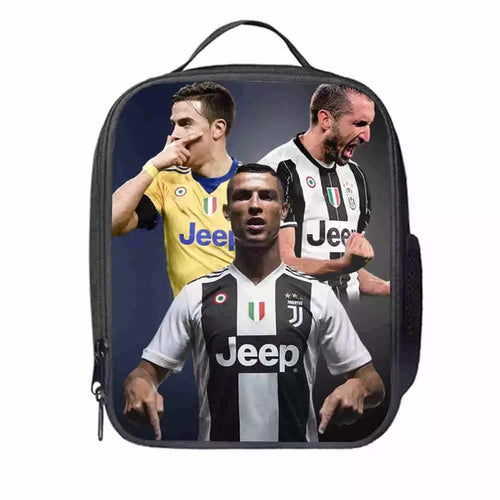 Juventus CR7 Cristiano Ronaldo #9 Lunch Box Bag Lunch Tote