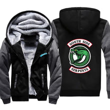 Load image into Gallery viewer, Riverdale South Side Serpents Winter Thick Warm Fleece Zipper Hooded Jacket Sweater Shirts