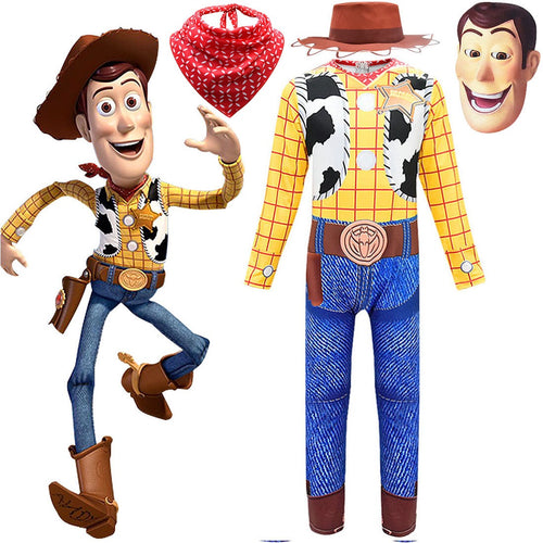 Toy Story Woody Jumpsuit Halloween Costume Cosplay Fancy Dress For Kids