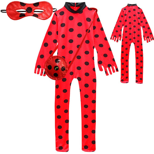 Miraculous Ladybug Milady Jumpsuit Halloween Costume Cosplay Fancy Dress For Kids