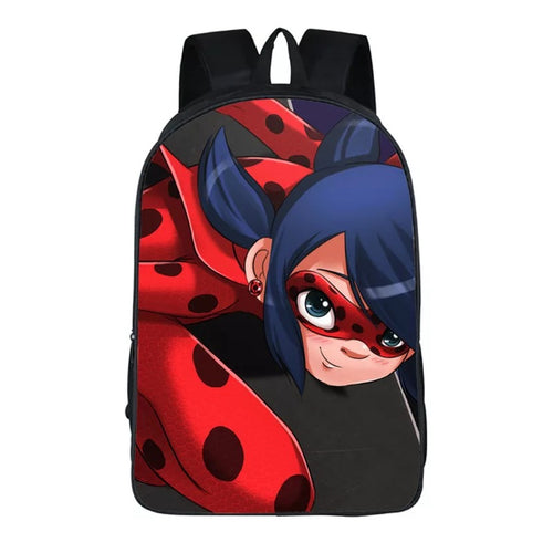 Anime Miraculous Ladybug Milady Cat Noir #10 Backpack School Sports Bag