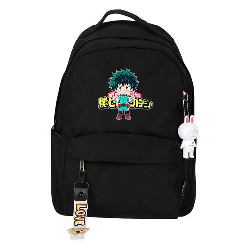 My Hero Academia Izuku Midoriya Deku Cosplay Backpack School Bag Water Proof