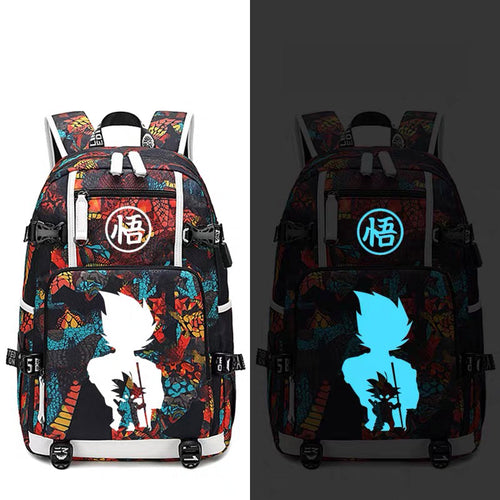 Dragon Ball Goku #11 USB Charging Backpack School NoteBook Laptop Travel Bags