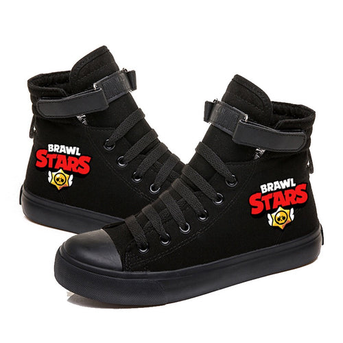 Game Brawl Stars Cosplay Shoes High Top Canvas Sneakers