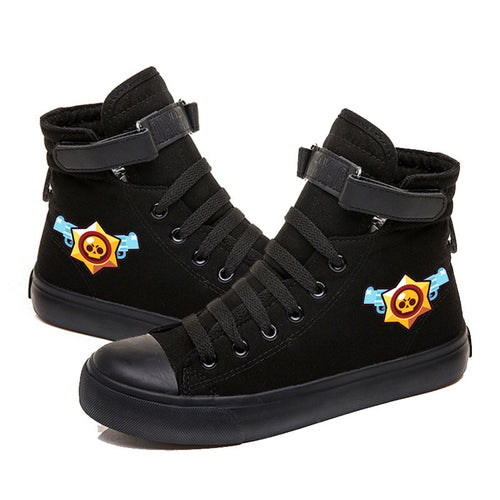 Game Brawl Stars #2 Cosplay Shoes High Top Canvas Sneakers