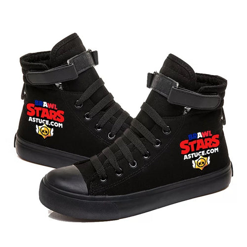 Game Brawl Stars #3 Cosplay Shoes High Top Canvas Sneakers