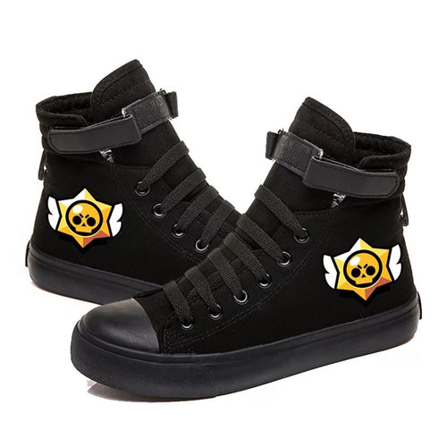 Game Brawl Stars #4 Cosplay Shoes High Top Canvas Sneakers