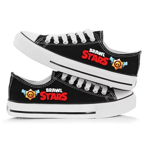 Game Brawl Stars Cosplay Shoes  Canvas Sneakers For Kids Adults