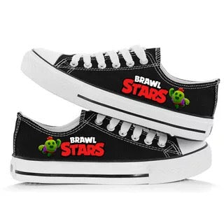 Game Brawl Stars Spike #2 Cosplay Shoes  Canvas Sneakers For Kids Adults
