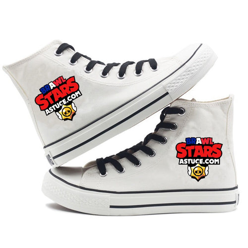 Game Brawl Stars #2 Cosplay Shoes High Top Canvas Sneakers For Kids Adults
