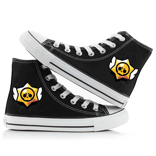 Game Brawl Stars #4 Cosplay Shoes High Top Canvas Sneakers For Kids Adults