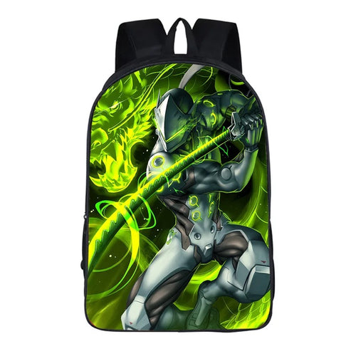 Game Overwatch Genji #4 Backpack School Sports Bag